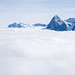 Small photo of Mountains amid a sea of clouds
