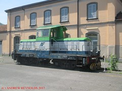 2017052205 DIESEL 0-8-0 DIESEL SHUNTING LOCOMOTIVE FERROVIE NORD MILANO  DE500-03 FM PROBABLY WITHDRAWN AT  ISEO STATION LOMBARDY