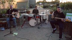 The Christian DeWild Band: Christian DeWild on guitar and vocals, Mike Pavisch on drums, Stephen Coronado on bass.
