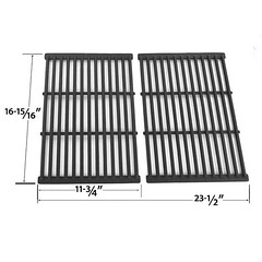 2-PACK-CAST-IRON-REPLACEMENT-COOKING-GRID-FOR-OUTDOOR-GOURMET-BQ51004-GRILL-CHEF-SS525-B