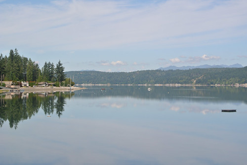 Olympic Mountain Dreams day 5 - Looking back up Hood Canal