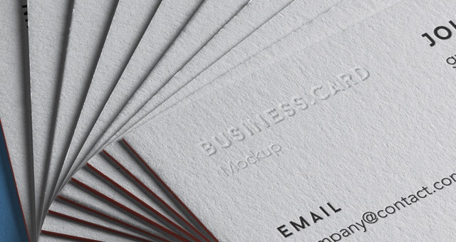 Stack of Business Cards Mockup 5