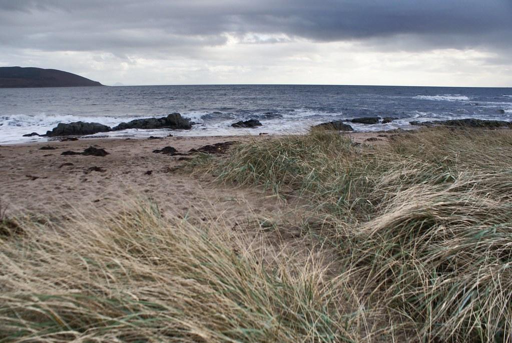 Sur la plage de Blackfootwater sur l'île d'Arran.