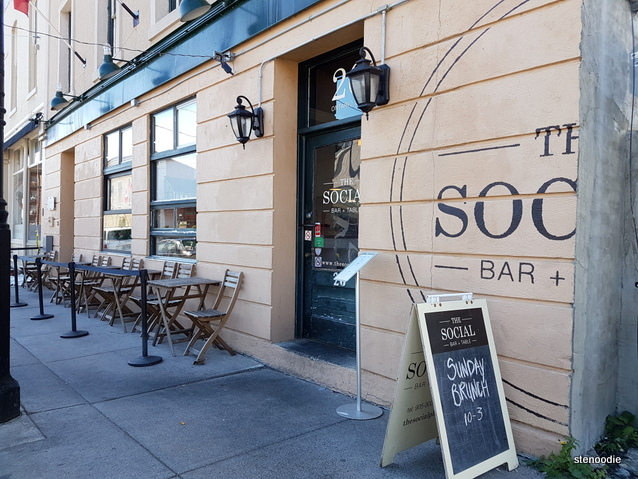 The Social Bar and Table storefront