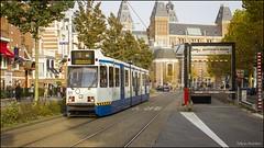 GVB 906 nabij het Rijksmuseum in de herfst