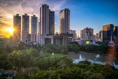 Sunset scence of Bangkok Panorama