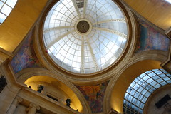 Looking up at The Exchange Arcade
