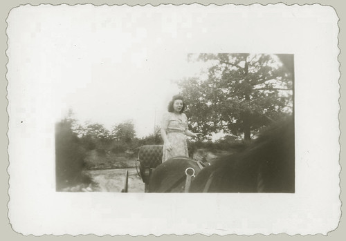 Woman with horse and buggy