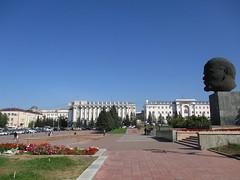 Giant Lenin head