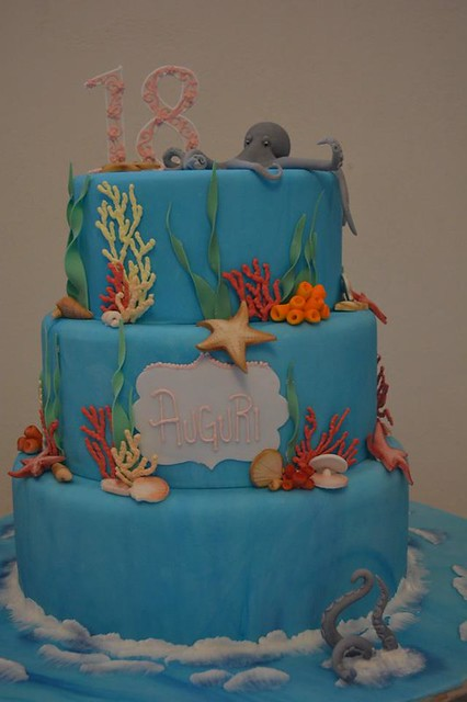 Under the Sea Theme Cake by Emozioni in Pasta di Zucchero di Marco Bernardi