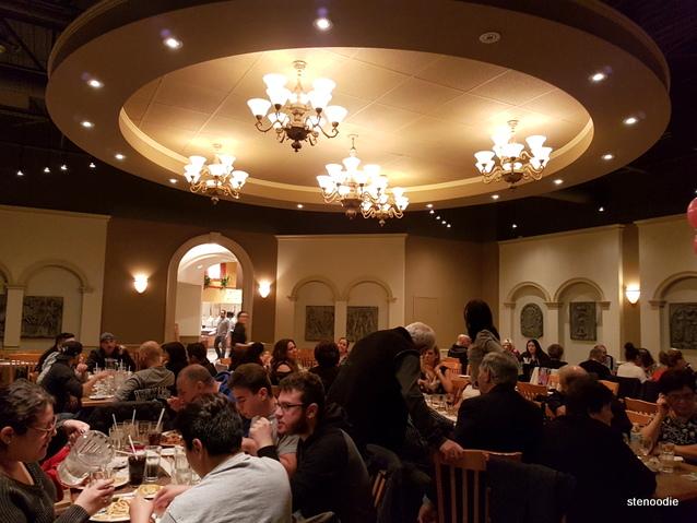 Vinnie Zucchini's Italian Buffet dining room