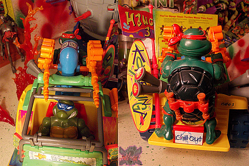TEENAGE MUTANT NINJA TURTLES :: MIKE'S KOWABUNGA SURF BUGGY .. turns xii (( 1991 ))