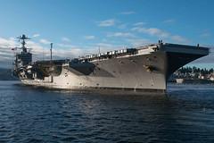 USS John C. Stennis (CVN 74) departs Naval Base Kitsap-Bremerton, Nov. 3. (U.S. Navy/MCSN Erika Kugler)