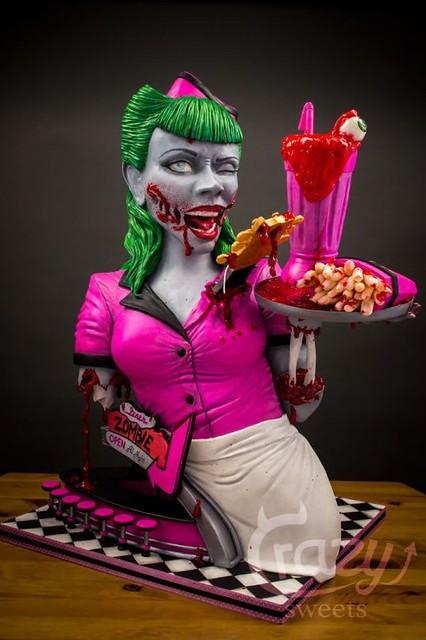 Zombies Diner 3D Cake - cakesdecor.com