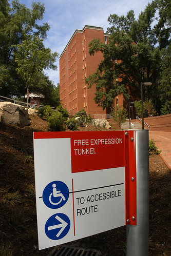 Handicapped accessible route of the newly renovated Free Expression Tunnel.