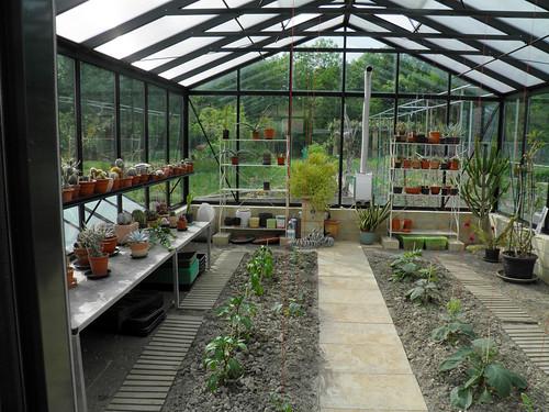 25° Mauergewächshaus 457 cm x 604 cm mit Frühbeeten  (4)