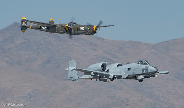 P-38 Lightning and A-10 Warthog