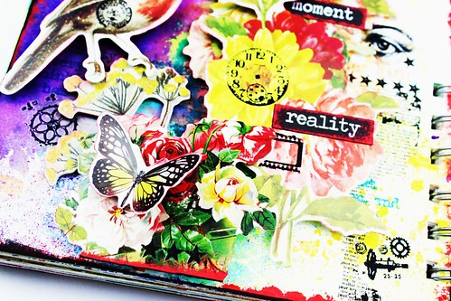 Meihsia Liu Simply Paper Crafts Mixed Media Art Journal Flower Bird Collage Simon Says Stamp Tim Holtz 4