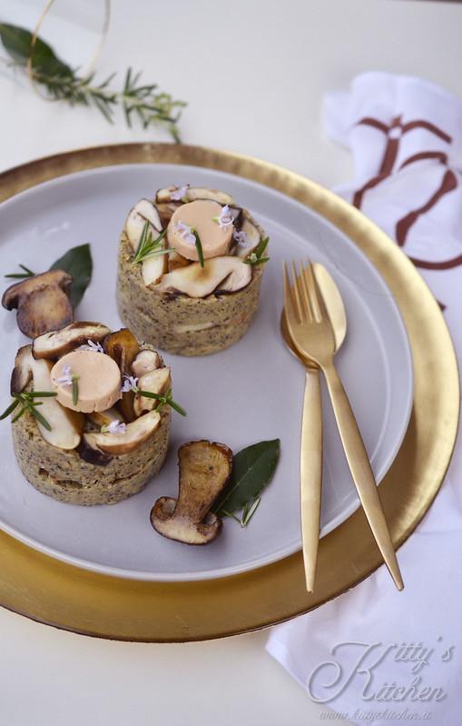 polenta taragna funghi porcini e foie gras