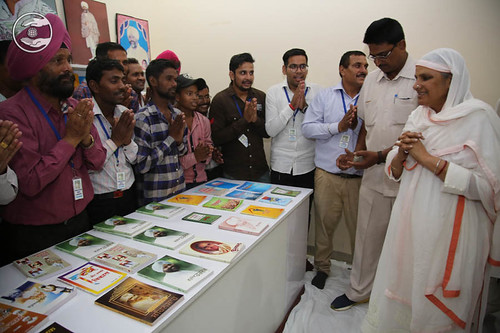 Her Holiness visits in Publications counter