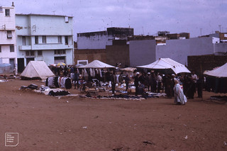 Clothes souk in Kenitra. 1972