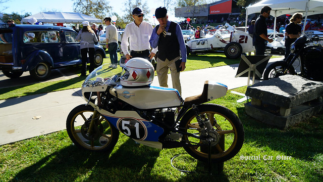 1976 Morbidelli-Benelli ARMI 125 VR Grand Prix Racer at Red White and Blue theme Art Center Car Classic 2017