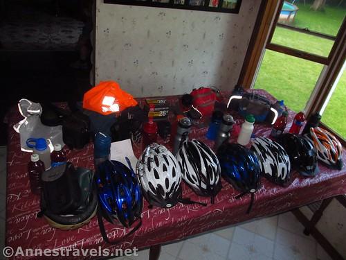 Preparing for a bike ride