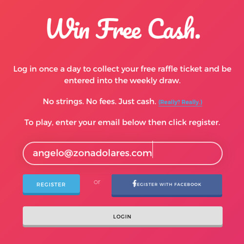 Formulario de Registro Big Free Giveaway