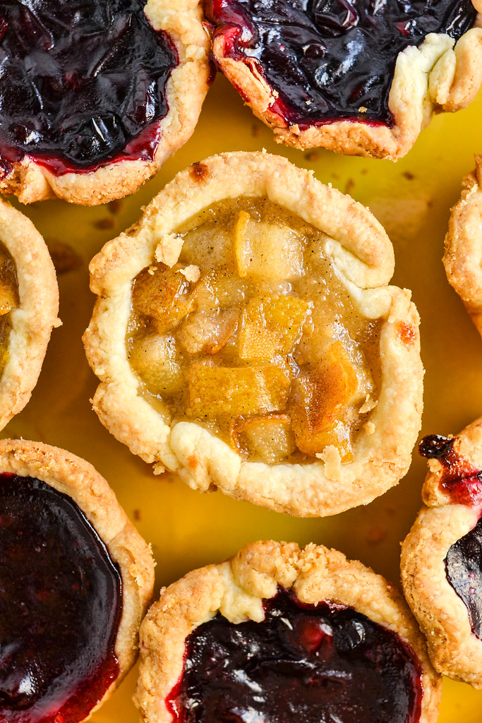 Concord Grape + Pear Cardamom Mini Pies - Things I Made Today