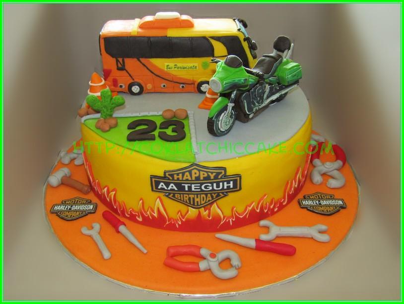 cake harley dan bus AA Teguh