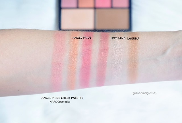NARS Angel Pride Cheek Palette swatches