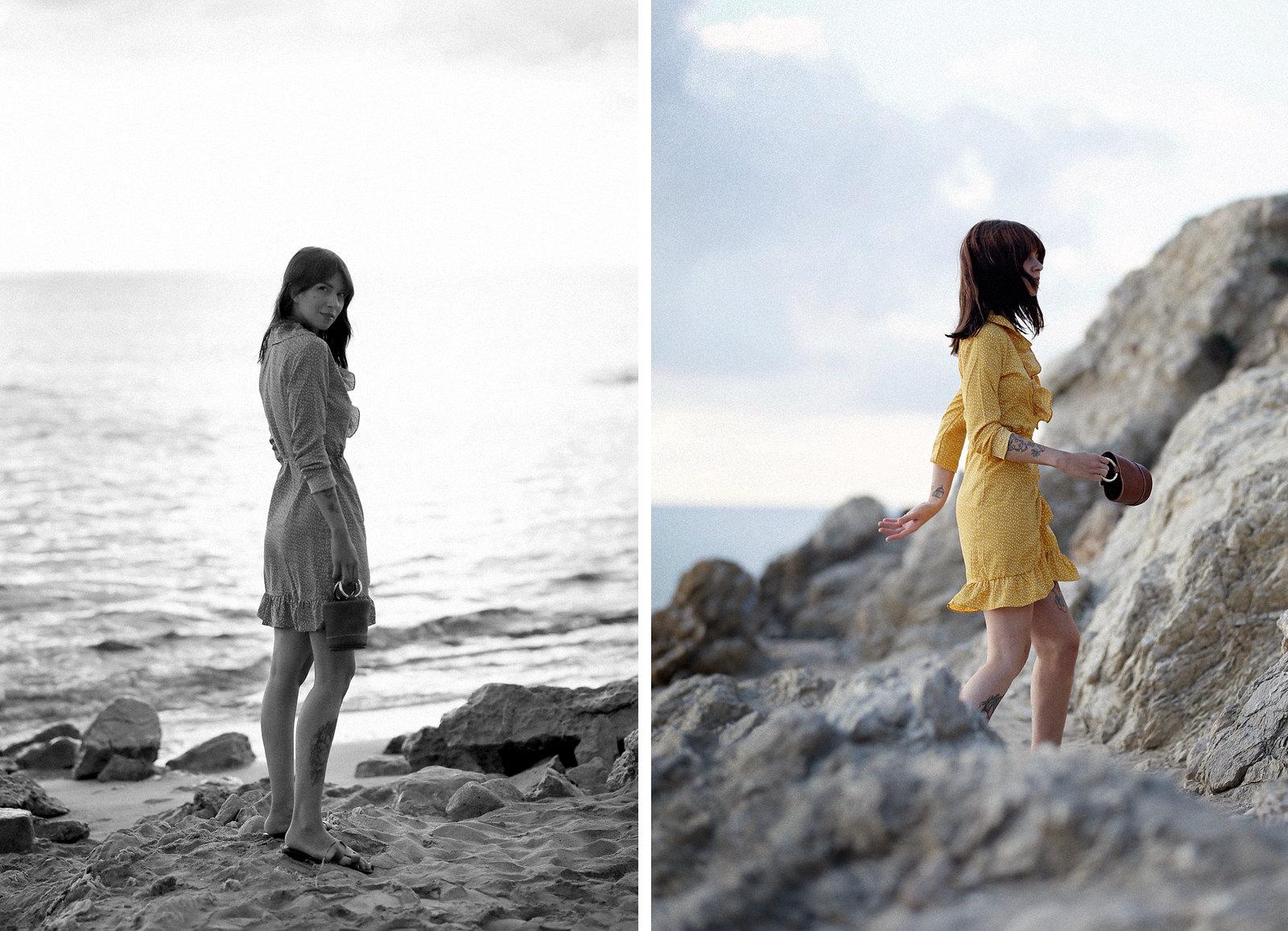 vila yellow mustard polka dot dress mallorca holiday beach sunrise moody style fashionblogger cats & dogs modeblog ricarda schernus fotograf max bechmann düsseldorf travelbloggers roamers 2