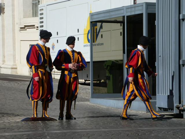 Swiss Guards in Vatican City