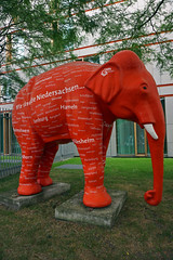 Sculpture at the garden of the representation of the State of Lower Saxony in Berlin