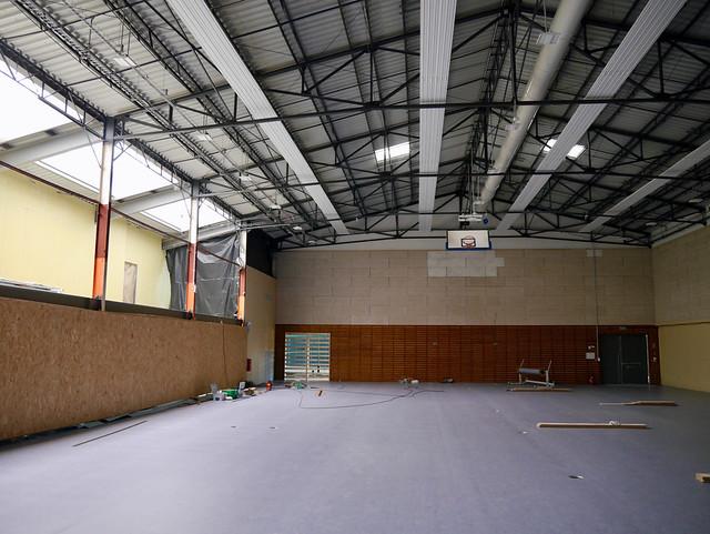 Salle des sports : les travaux