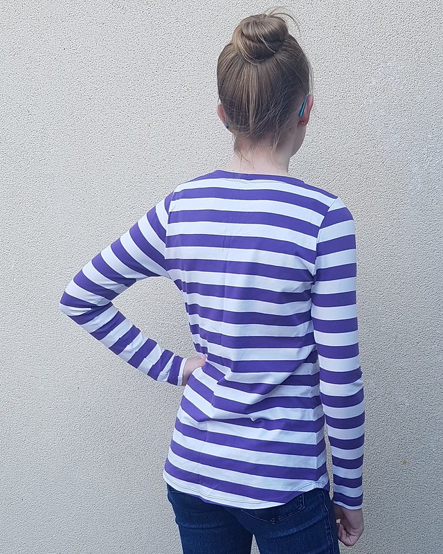 Hey June City Park tee in cotton lycra stripe from Crafty Mamas
