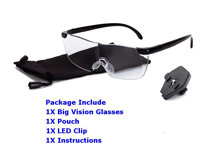 big vision glasses แว่นตาขยาย ไร้มือจับ