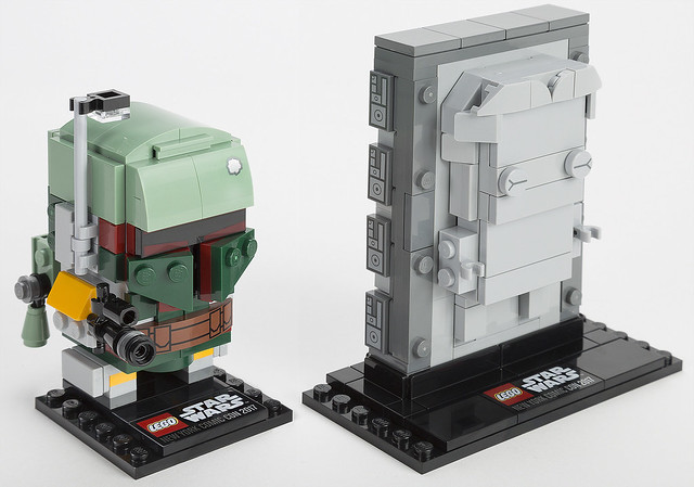 2017 NYCC 限定!意想不到的二人組~ LEGO 41498 BrickHeadz 系列 星際大戰【波巴·費特&碳凍韓索羅】Boba Fett & Han Solo in Carbonite