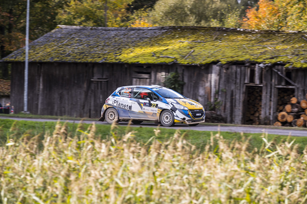 22 Zawada Aleksander and Dachowski Grzegorz, Peugeot 208 R2 ERC Junior U27 action during the 2017 European Rally Championship ERC Liepaja rally,  from october 6 to 8, at Liepaja, Lettonie - Photo Gregory Lenormand / DPPI