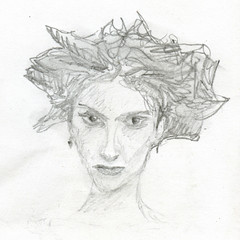 Old Drawings - The Dryad