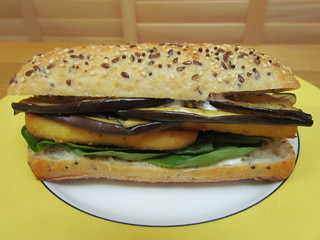 Marinated Eggplant Sandwich