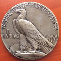 T. Roosevelt 2nd inaurgural medal, 1905 reverse