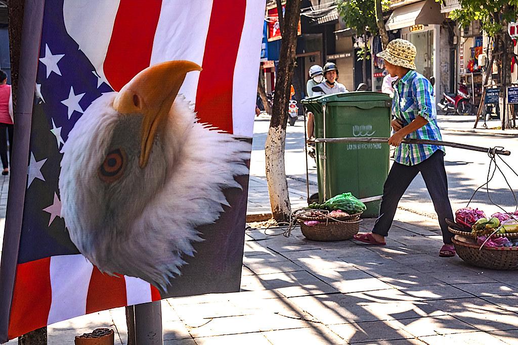 American flag with eagle--Hanoi