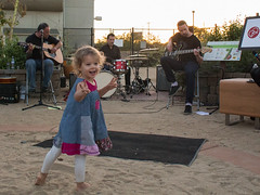 A young fan enjoying the music of the Christian DeWild Band.