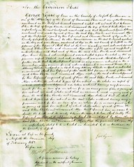 Acknowledgement of Deeds by Commissioners of the Common Pleas Ellen wife of George Bowles & Susannah wife of Robert Deeks Algar, Suffolk. 1862. p2