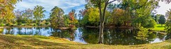 Panoramic view of pond in fall (1)
