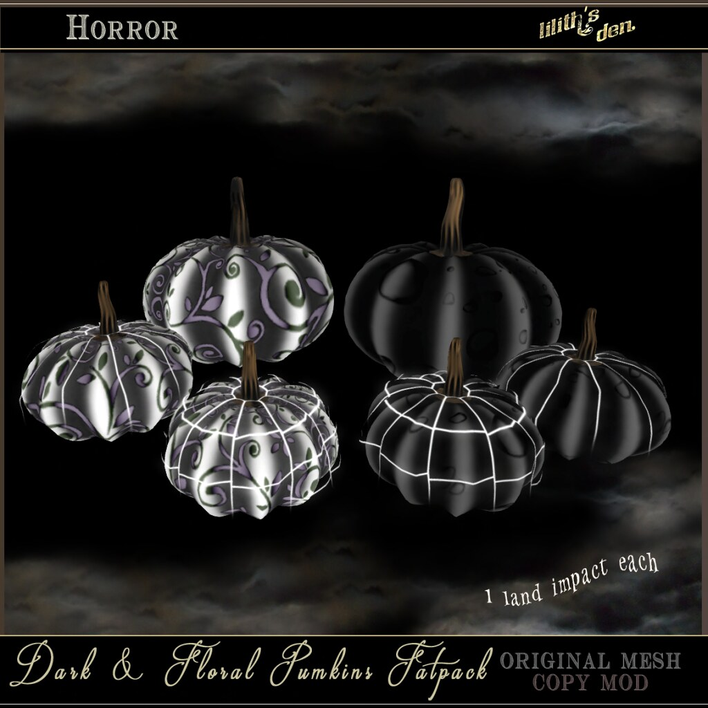 Lilith's Den Dark and Floral Pumpkins Fatpack - TeleportHub.com Live!
