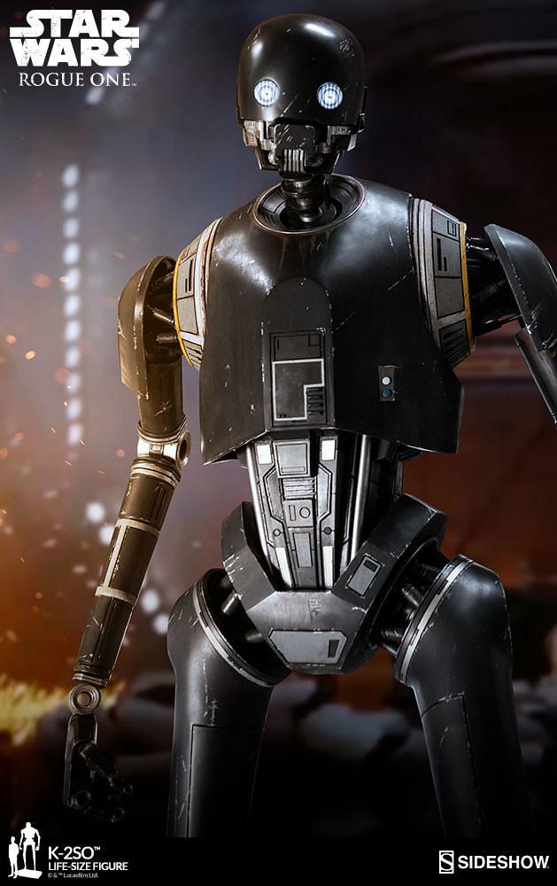 機器人嘴砲王到你家~~Sideshow Collectibles《星際大戰外傳:俠盜一號》K-2SO  1:1 比例全身雕像作品