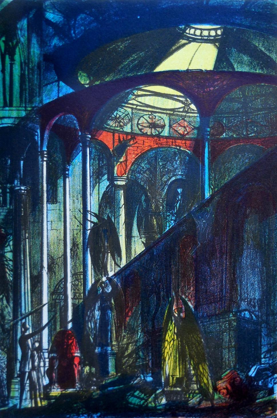"Joseph Mugnaini - Illustration from ""The Time Machine"" by H.G Wells, 1964"
