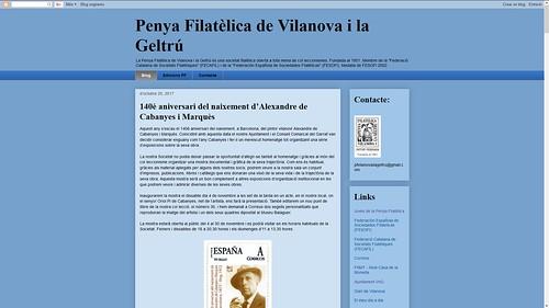 188 - Penya Filatèlica de Vilanova i la Geltrú